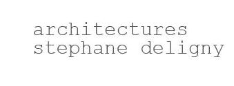 AGENCE D'ARCHITECTURES STÉPHANE DELIGNY Logo